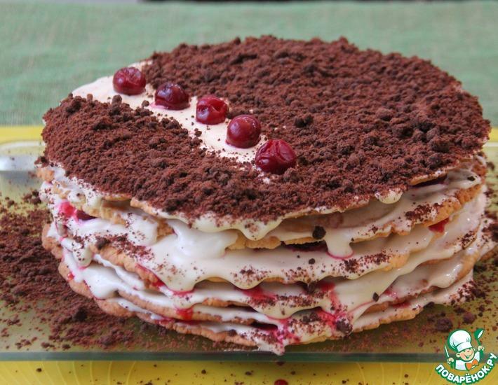 Рецепт: Торт Зимняя вишня