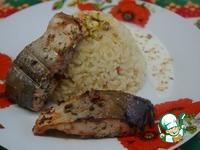 Голец с пряным рисом и сливочным соусом ингредиенты