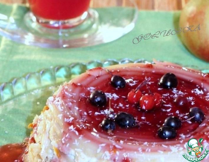 Рецепт: Запеченные фрукты с макаронами и творогом