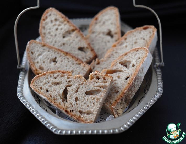 Рецепт: Хлеб из полбы на ржаной закваске