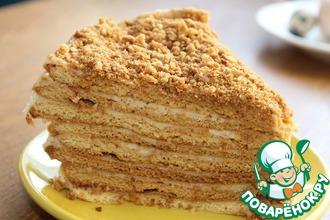 Рецепт: Торт Рыжик с заварным кремом