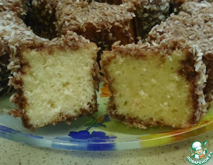 Рецепт: Пирожное Нежный кокосик