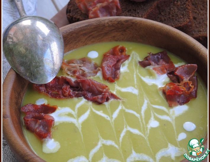 Рецепт: Гороховый суп-пюре с хамоном
