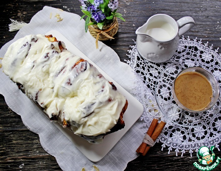 Рецепт: Пирог Гармошка с корицей