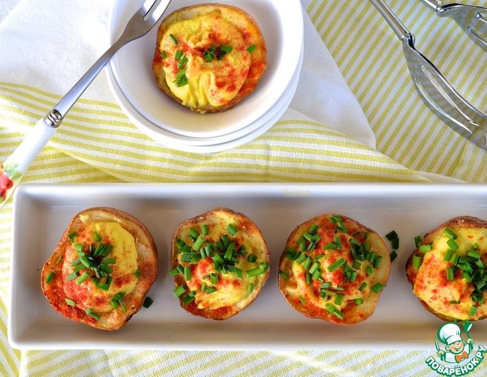 Рецепт: Картофельные шкурки с нутовым кремом