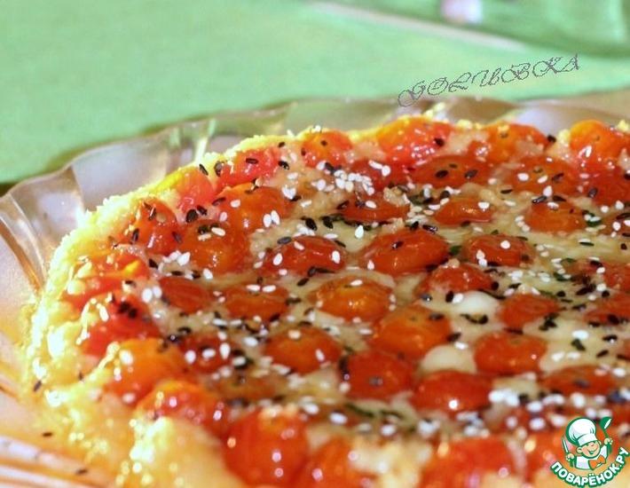 Рецепт: Горячий пирог c карамельными черри