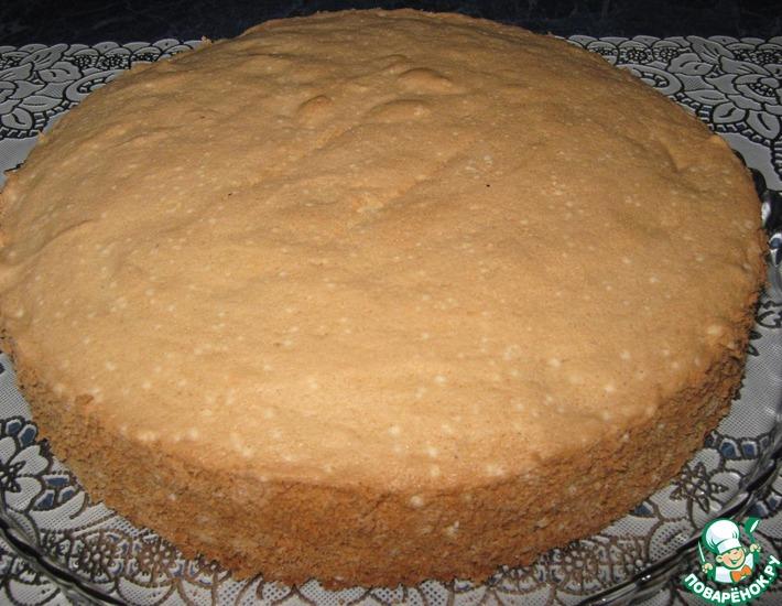 Рецепт: Брошеный бисквит