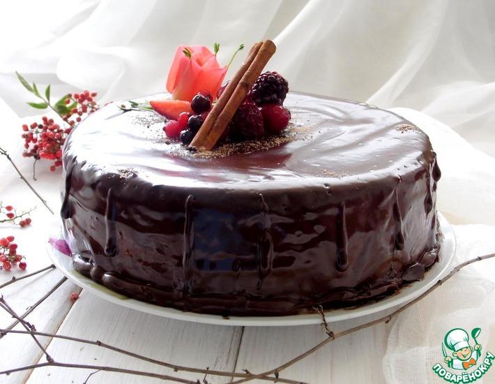 Рецепт: Бисквитный маковый торт