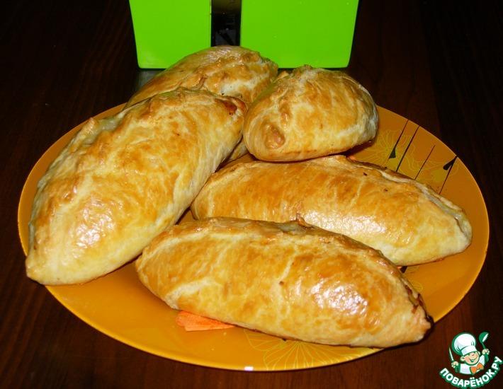 Рецепт: Пирожки из нежнейшего теста почти Кибинай