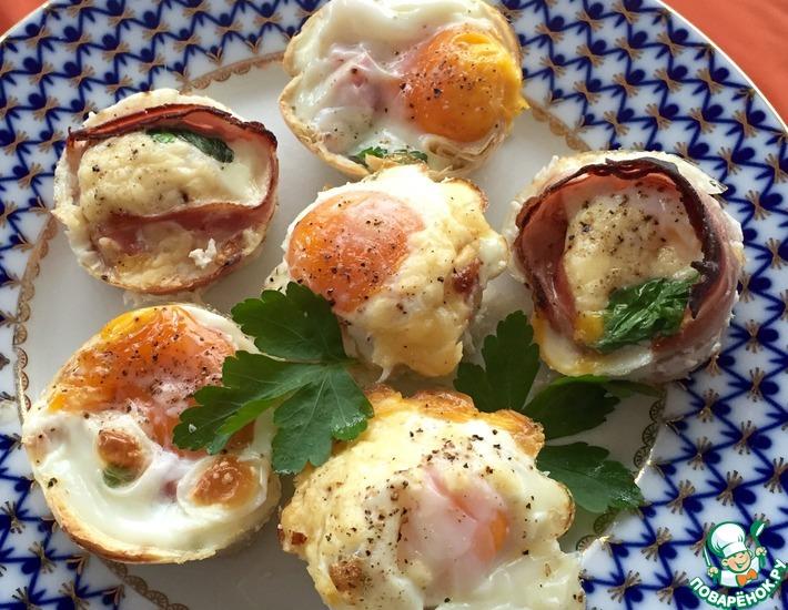 Рецепт: Запечённые яйца Воскресные за 15 минут