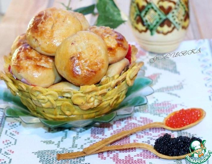 Рецепт: Нутовые булочки в корзине из теста