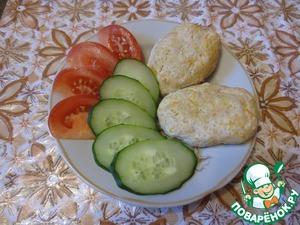 Steam chicken cutlets with zucchini