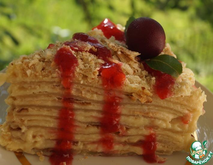Рецепт: Торт Наполеон дачный