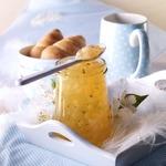 Яблочное желе с кусочками груши