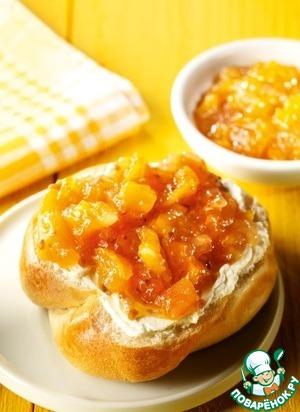 Рецепт: Варенье из абрикосов и персиков