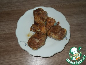 Chicken with coffee marinade