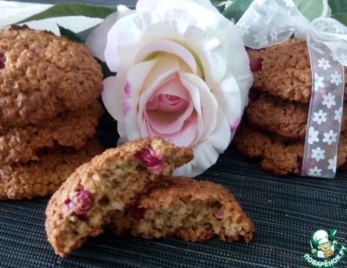 Рецепт: Овсяное печенье с клюквой