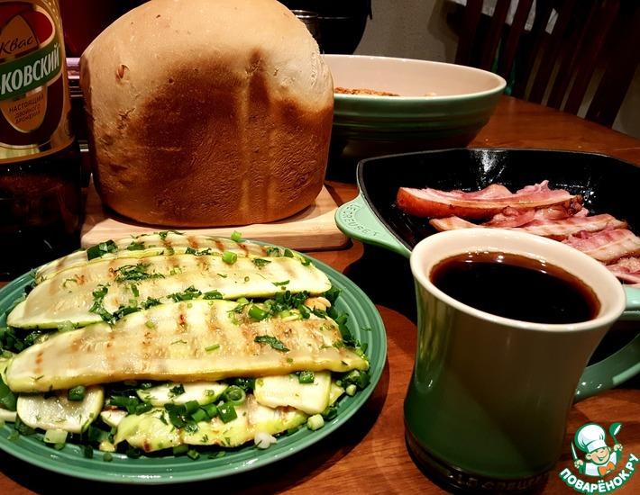 Рецепт: Кабачки Острые язычки для квасного ужина