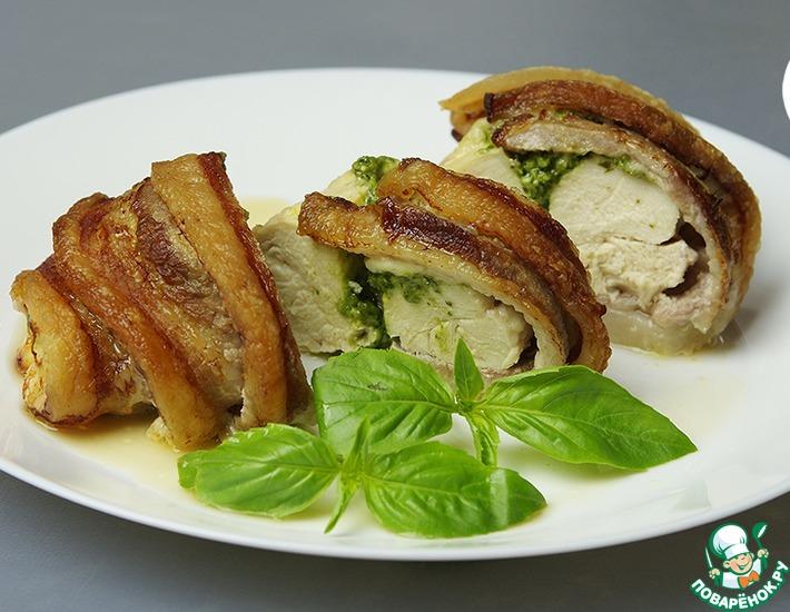 Нежнейшая куриная грудка с соусом песто — 4
