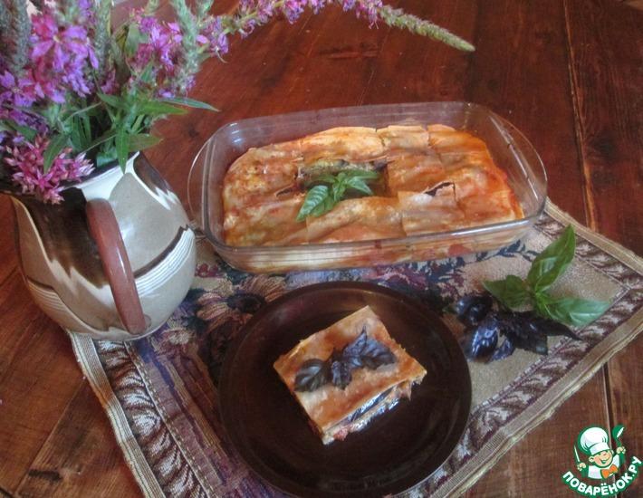 Рецепт: Постная лазанья с баклажанами