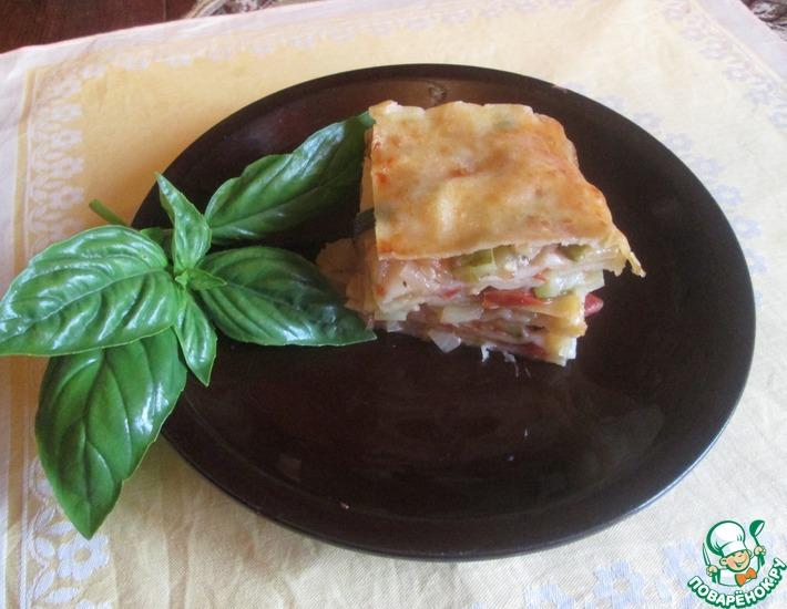 Рецепт: Овощная постная лазанья