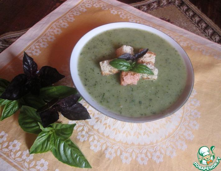 Рецепт: Суп из цуккини с базиликом