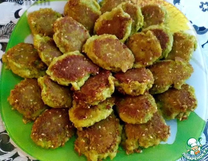 Рецепт: Котлеты из зеленого горошка