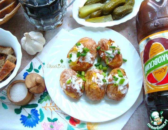 Рецепт: Молодой картофель под квас