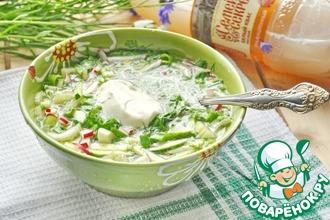 Рецепт: Зеленая окрошка