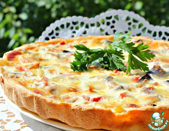 Рецепт: Открытый пирог из индейки и овощей
