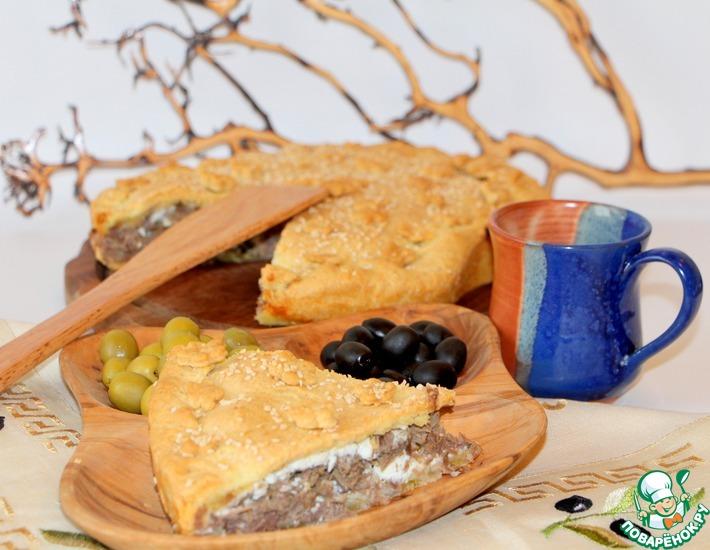 Рецепт: Критский мясной пирог Креатотурта