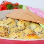 Картофель с рыбой в йогуртовом соусе