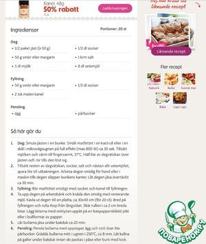 Шведские булочки с корицей – кулинарный рецепт