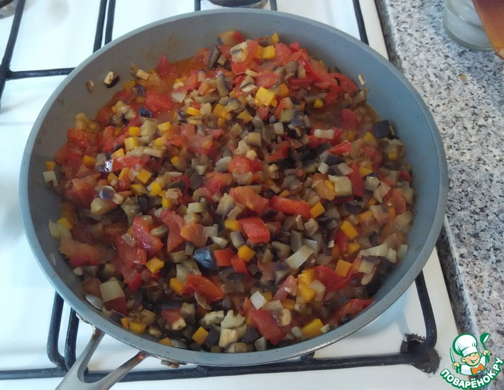 Рецепт: Тушеные овощи Мозаика