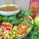 Мексиканский салат с кукурузой