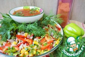 Рецепт: Мексиканский салат с кукурузой