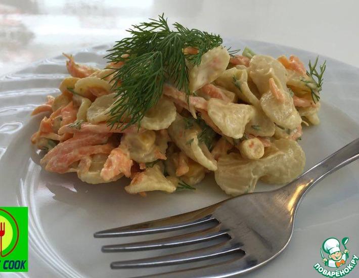 Рецепт: Овощной салат с макаронами