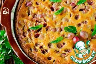 Рецепт: Пирог с крыжовником и сливочным соусом