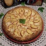 Пирог с персиками Двойной творожный