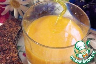 Рецепт: Морс облепиховый Солнышко в стакане