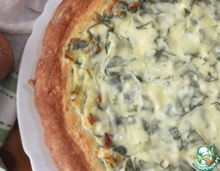 Рецепт: Пирог с брынзой и щавелем