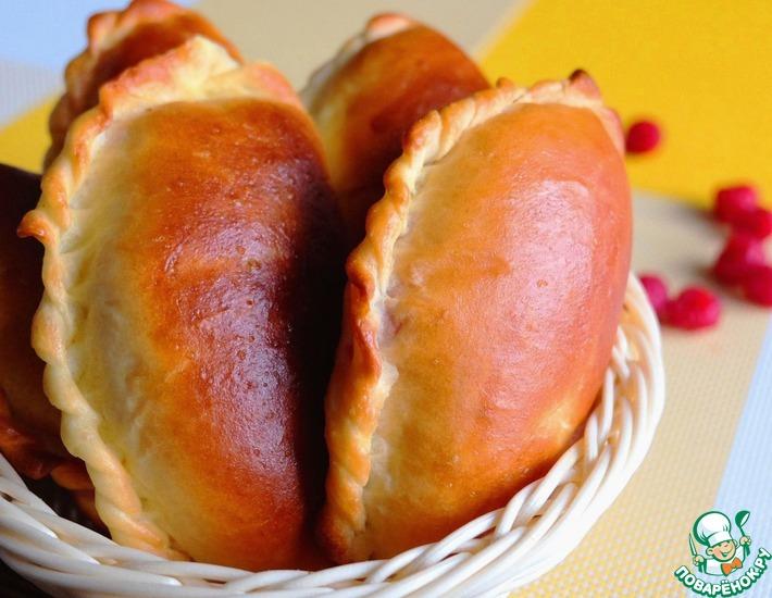 Рецепт: Пирожки из духовки с малиной