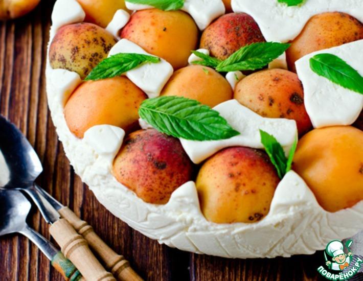 Рецепт: Торт-мусс с абрикосами и сыром