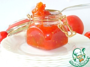 Tomato jam or sauce for meat
