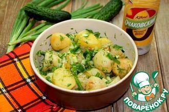 Рецепт: Тёплый салат из молодого картофеля