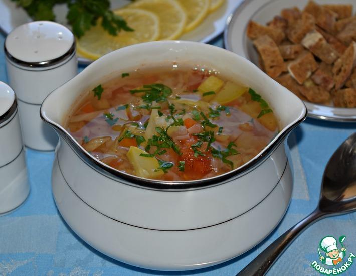 Рецепт: Овощной суп с сельдереем Лёгкость
