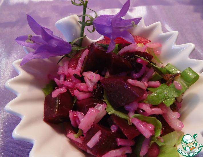 Рецепт: Салат с маринованной свеклой и рисом