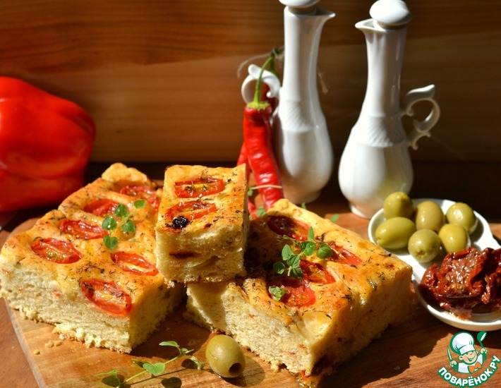 Рецепт: Фокачча на картофельном тесте