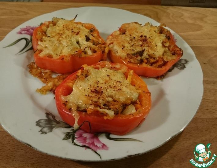 Рецепт: Перец фаршированный Овощные колечки