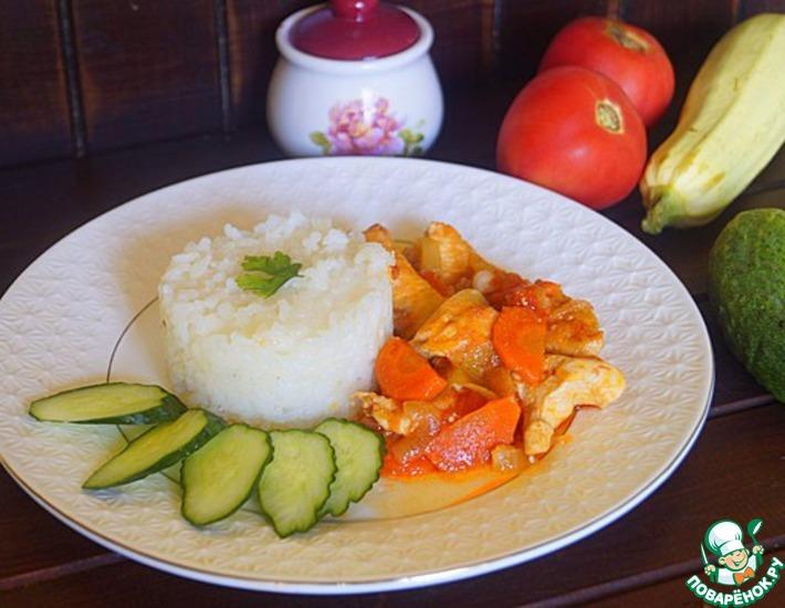 Рецепт: Рис с овощами и курицей